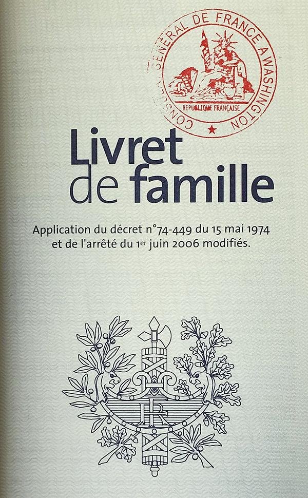 livret de famille cover